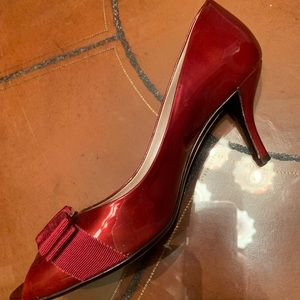 Red Wine Ferragamo Heels